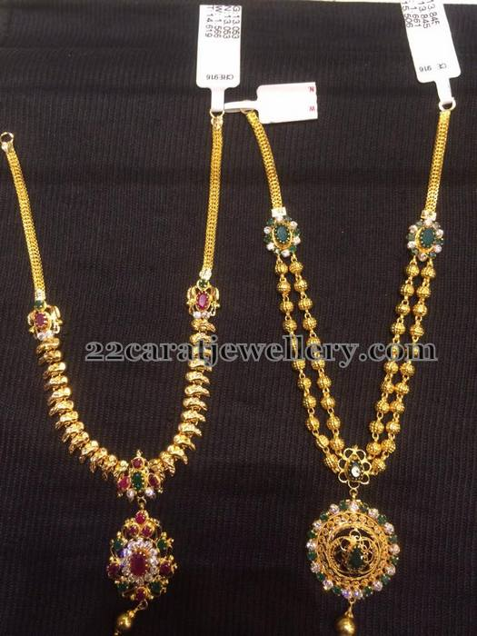 15 to 17 grams gemstone necklaces jewellery designs