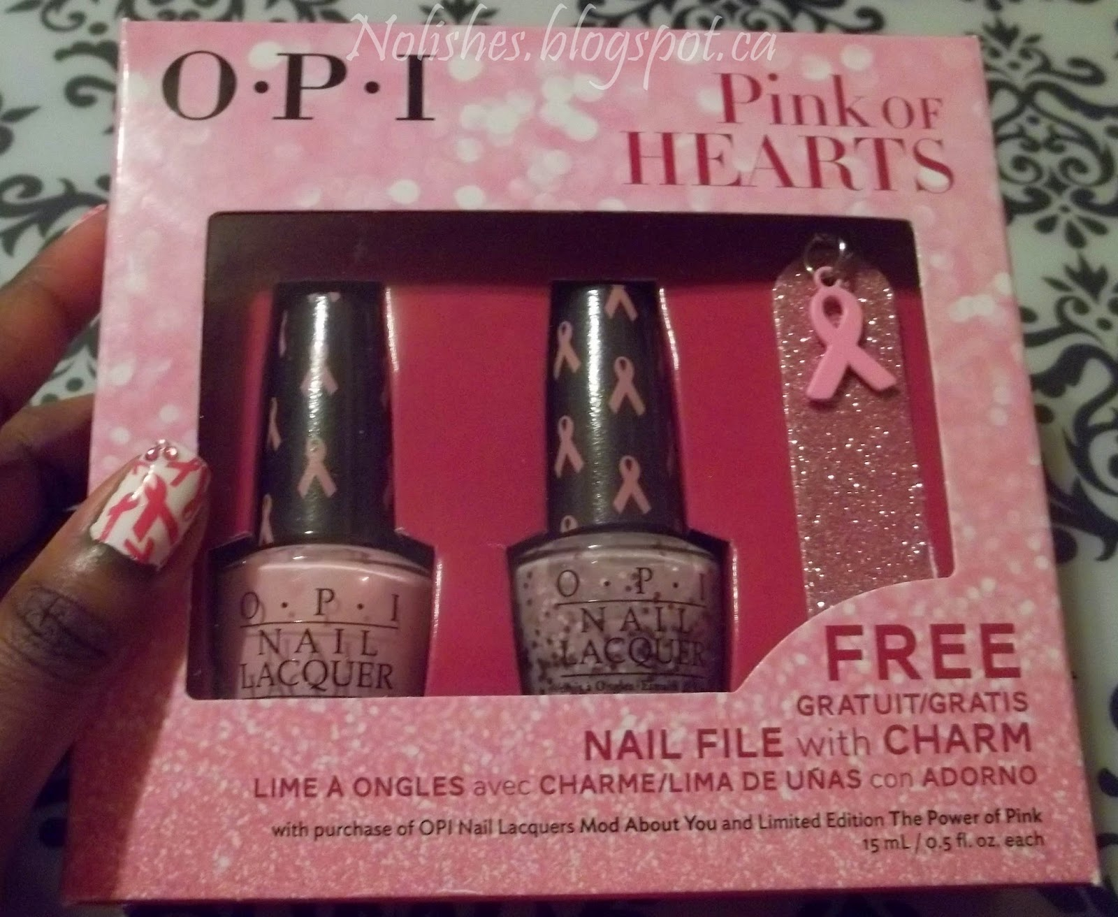 OPI 'Pink of Hearts' 2014 Duo (boxed) containing OPI 'Mod About You', and 'The Power of Pink'