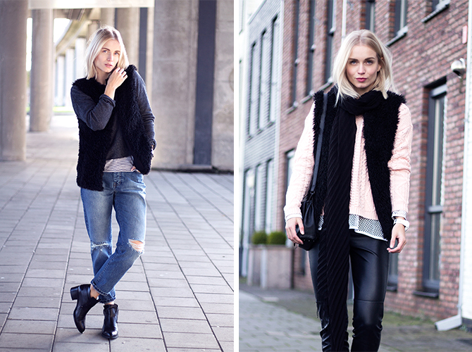 Fashion Attacks outfit ootd 4 ways to wear furry gilet