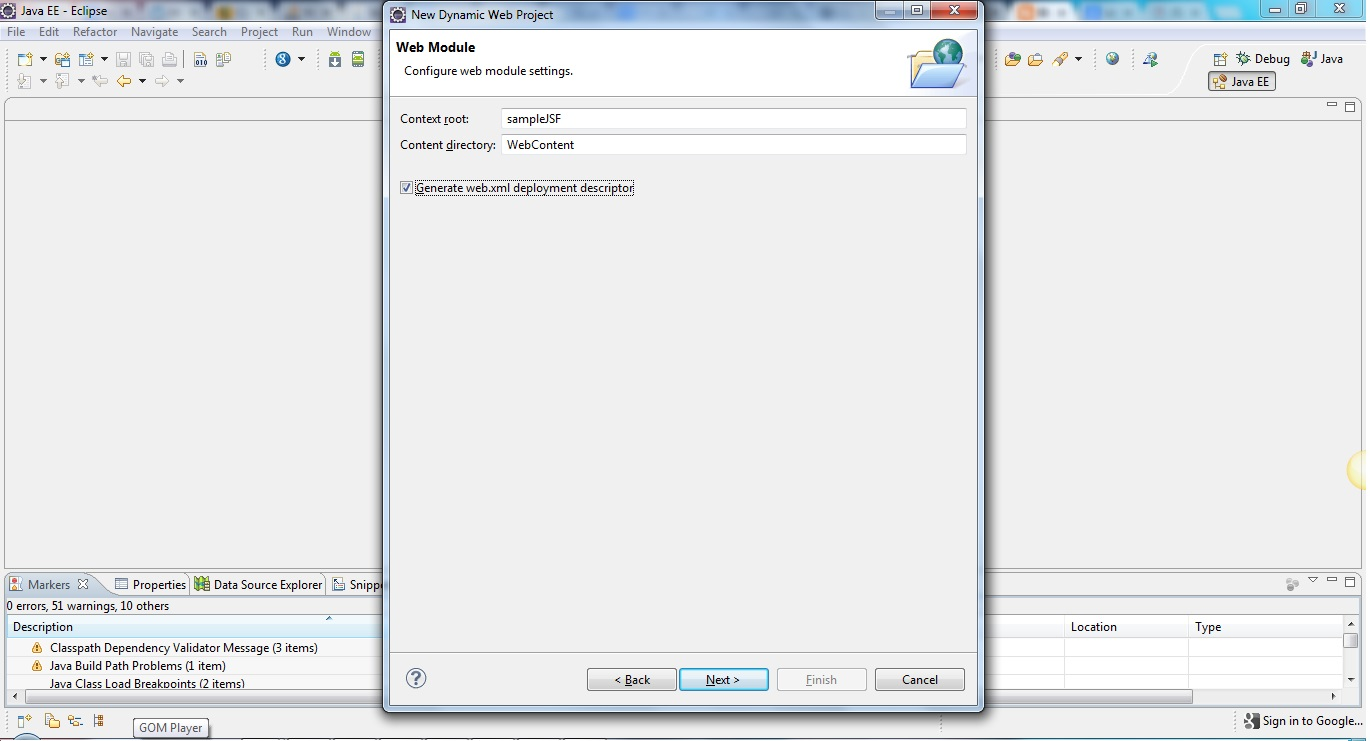 Jsf 20 tutorial java interview questions check the jsf librarys above and click on finish button create the package for managed bean and create a java class by name hellobeanjava in that package baditri Gallery