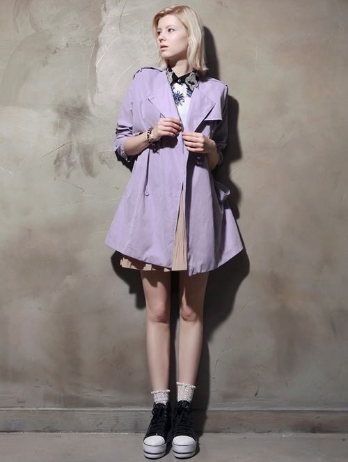 Purple Andrea Trench Coat