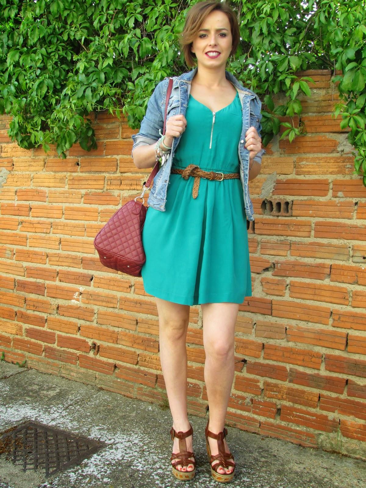 Chaqueta para vestido verde