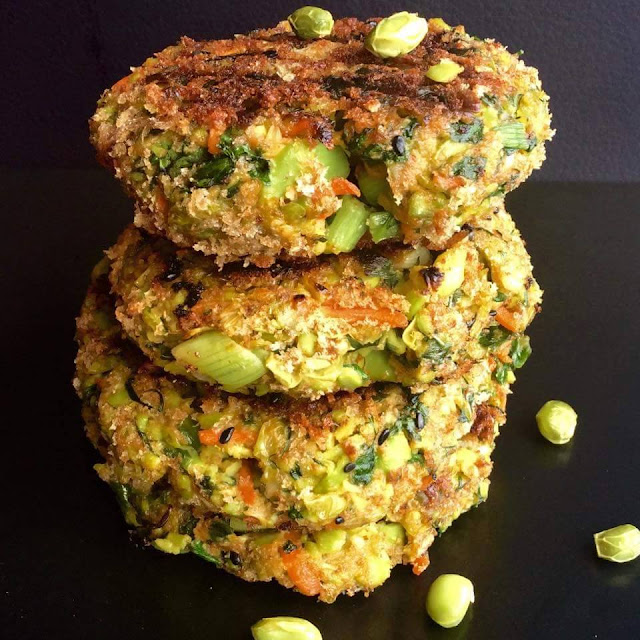 Edamame and Carrot Burgers served with Almond ButterBurgers & Sandwiches