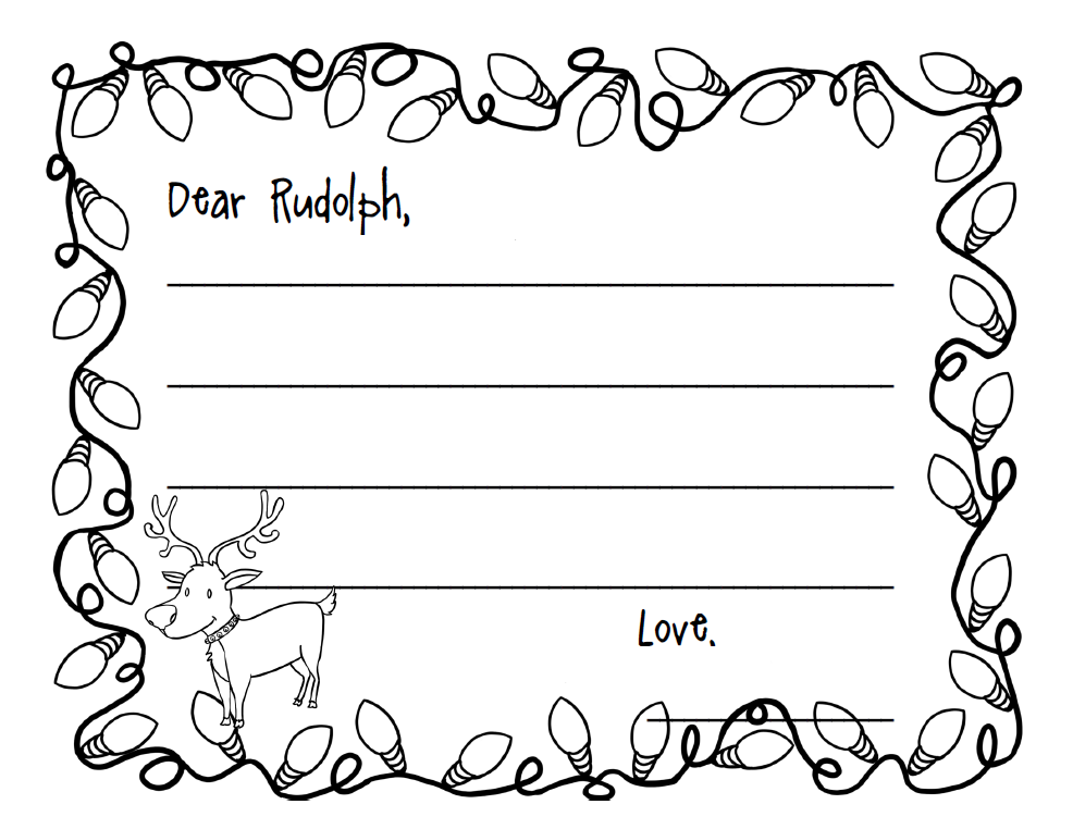 write a letter to rudolph