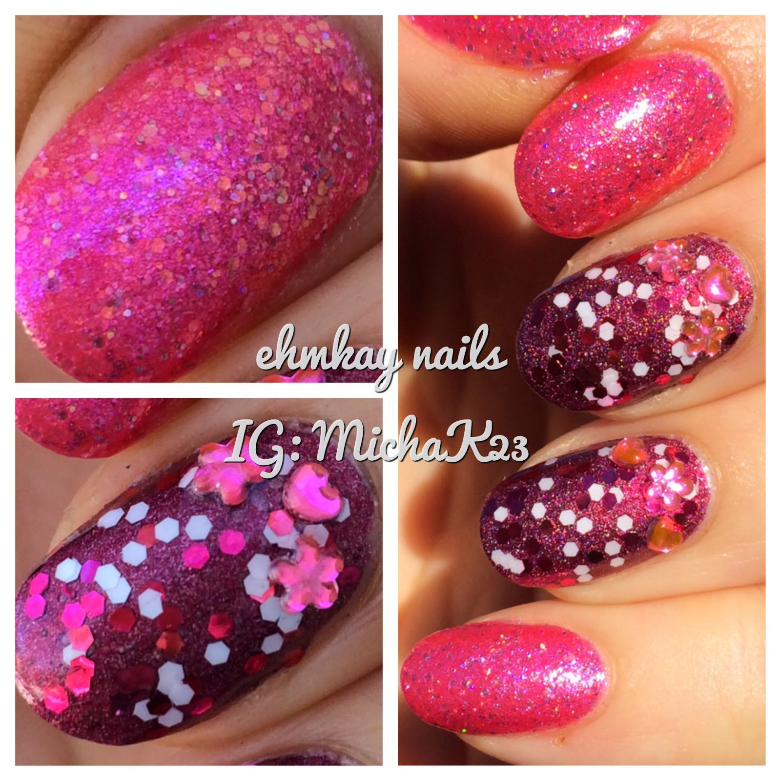 ehmkay nails: Girly Pink Manicure with OPI Nail Lacquer