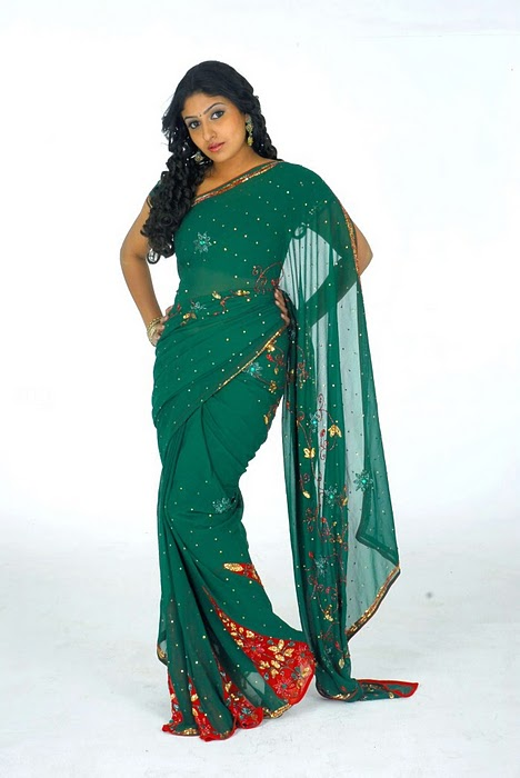 monica  in Green Saree1 - South India Actress monica in Green Saree