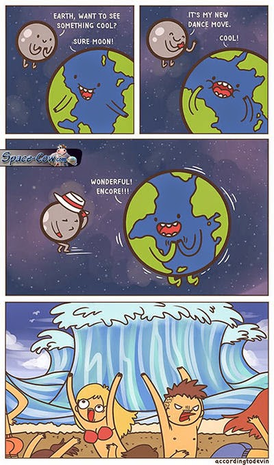 funny comics Moon picture