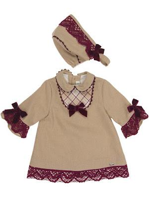 conjunto vestido y capota niña