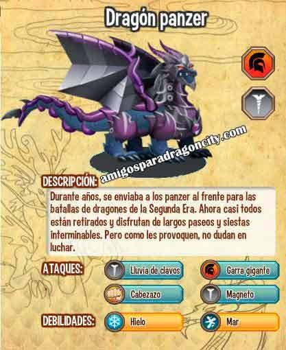 imagen de las caracteristicas del dragon panzer