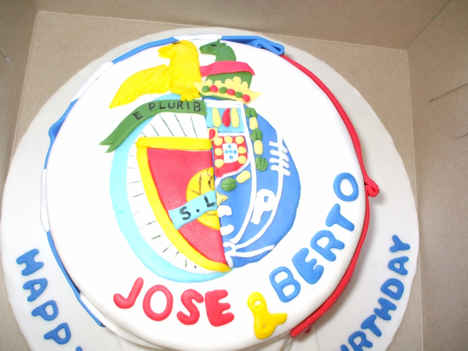 Delellas Cakery Fc Porto And Benfica Cake