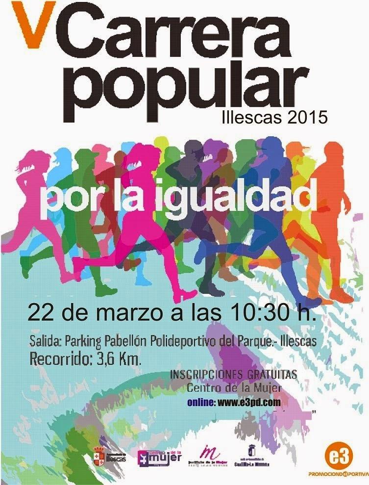 V Carrera Popular por la Igualdad, en Illescas