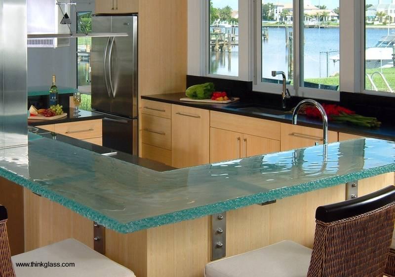 Arquitectura de casas 10 encimeras de vidrio nicas for Mesadas para cocina