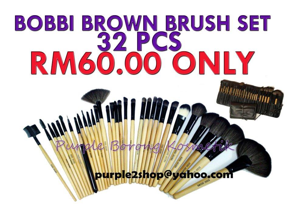 bobbi brown brushes price. bobbi brown brush 32 pcs rm60 00 borong rm46 min 3 set rm45 brushes price