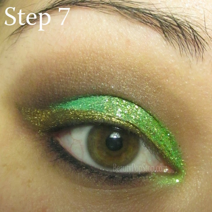 st patrick's day makeup tutorial using lit cosmetics lime squeeze glitter