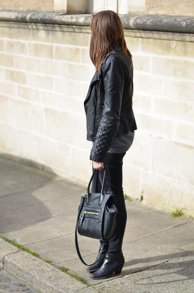 Ohcommentçava - Perfecto cuir et bottines talons noir