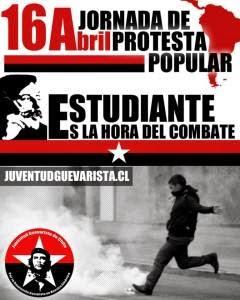 16 DE ABRIL, PROTESTA POPULAR