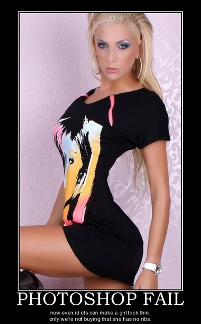 Funny pictures photoshop fail photoshop thin girl fain demotivational