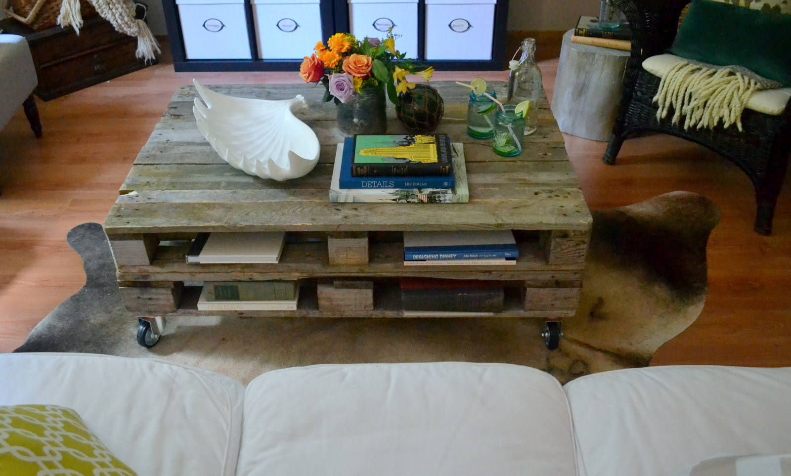 The poor sophisticate pallet coffee table tutorial Table making ideas