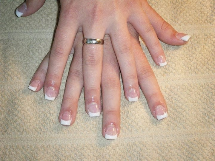CLASSIC FRENCH PINK & WHITE ACRYLICS Wedding Fashion OPI Nail Polish Lacquer  Pedicure-care-natural-healthcare-Gel-Nail-Polish-beauty-LED-Nails-Manicure-Acrylic-Nails-Nail-Art-USA-UK