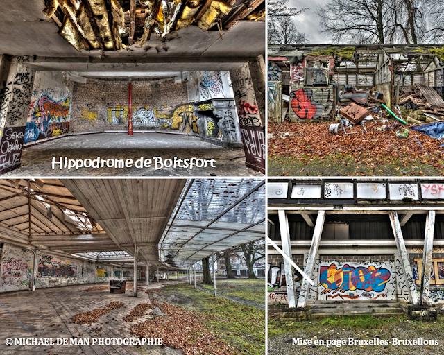 """Hippodrome de Boitsfort - Faute de soins et d'attentions durant deux décennies, ce """"patrimoine bruxellois"""" a sérieusement dépéri au point de n'être plus que l'ombre de lui-même - Bruxelles-Bruxellons"""