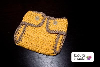Cubrepañales crochet paso a paso
