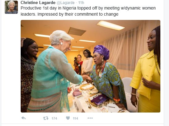 Check Out What IMF Boss Christine Lagarde Said About President Buhari's Government