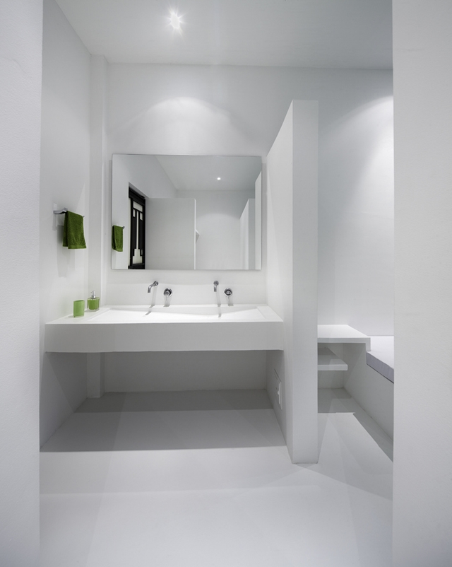 Small minimal sink in the bathroom