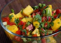 Salada de Manga e Pimentão (vegana)