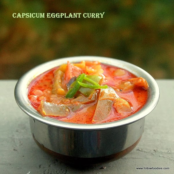 Capsicum Eggplant Curry Recipe