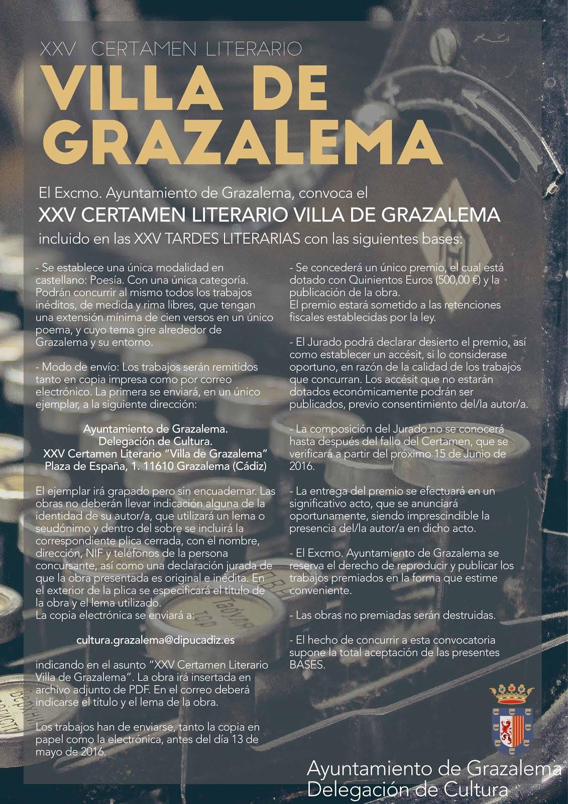 Concurso literario Villa de Grazalema