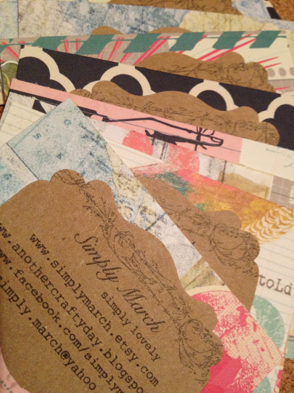 Another Crafty Day DIY Business Cards