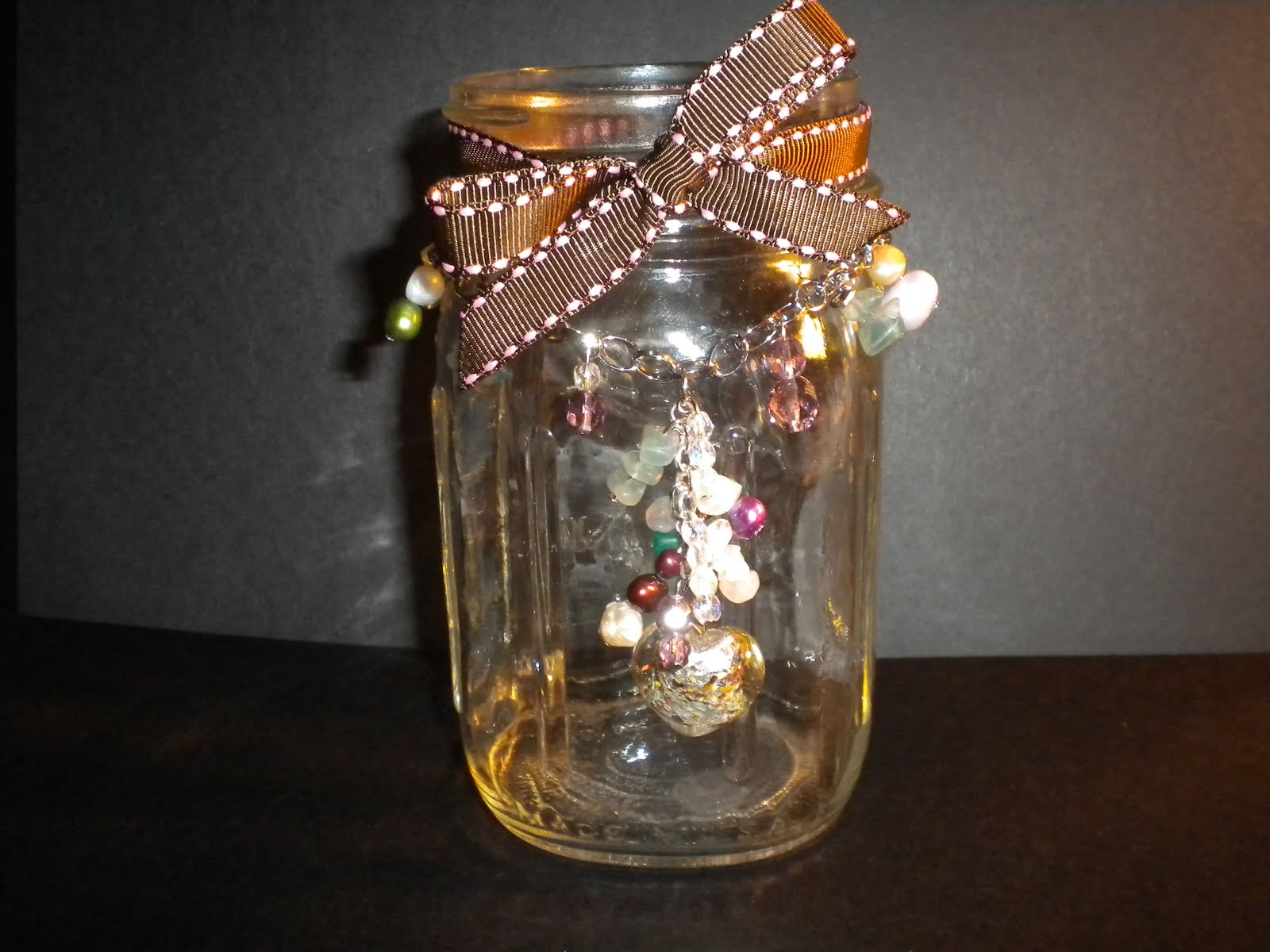 wendy 39 s scrapbook nook ball canning jar with charms
