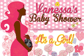 Personalised Baby Shower Banner and Invitations, Durban