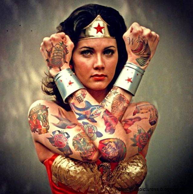 Tatoo woman free tattoo pictures for Tattooed wonder woman