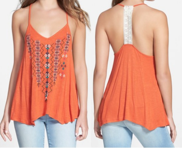Summer Fashion - Sun & Shadow lace back tank
