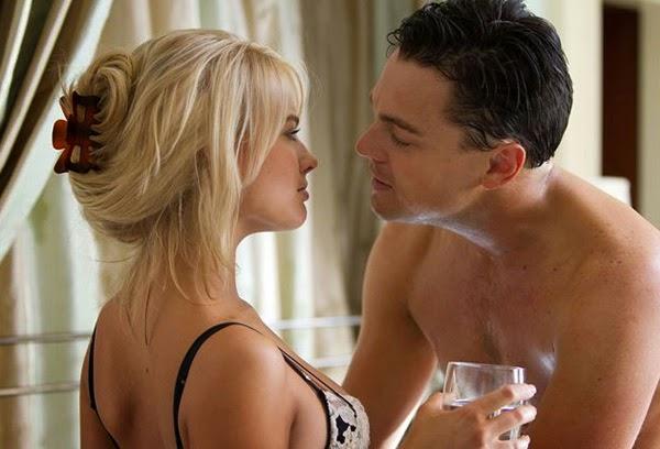 """Margot Robbie y Leo DiCaprio en """"El lobo de Wall Street"""""""