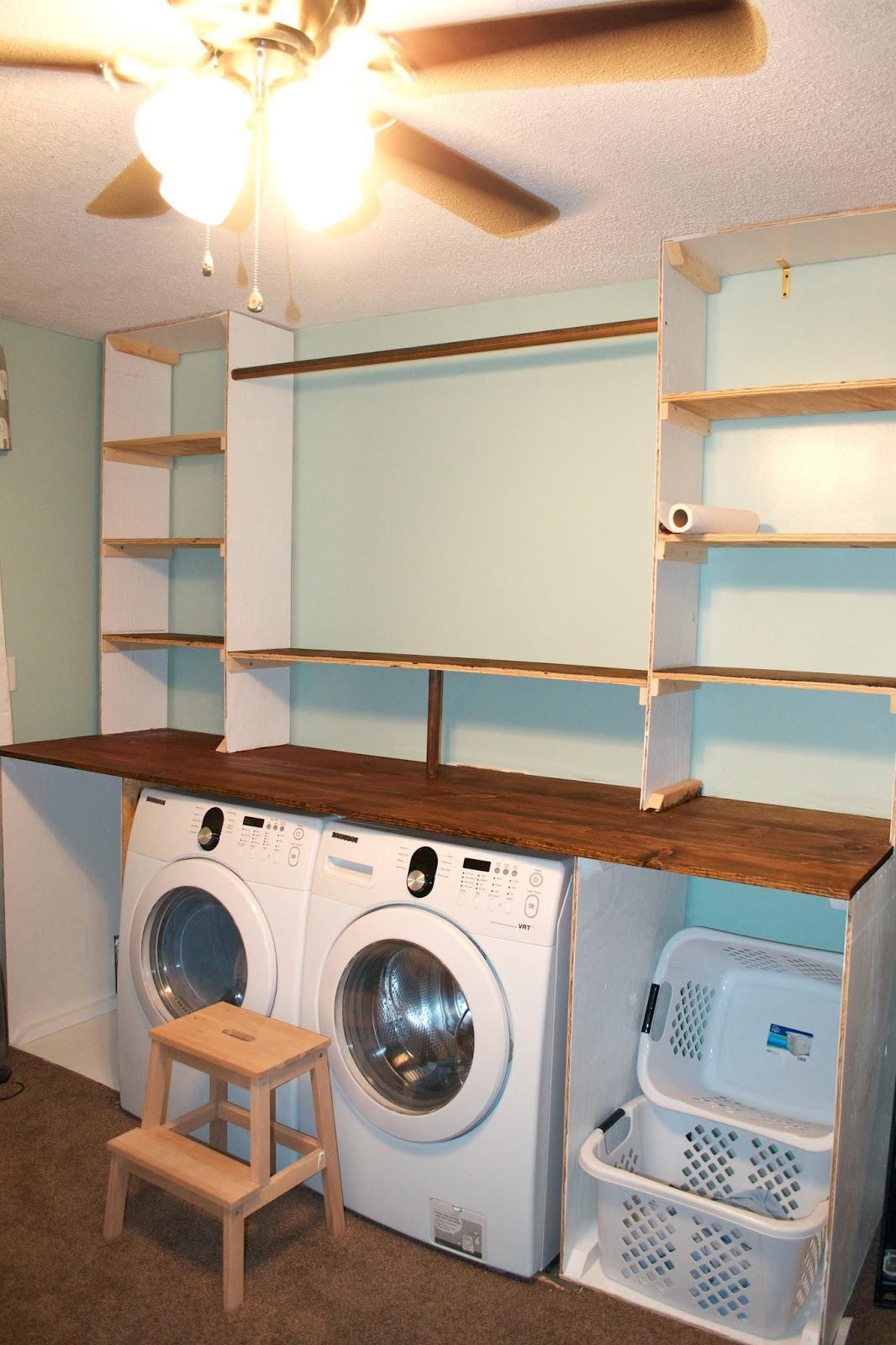 seesaws and sawhorses laundry unit progress. Black Bedroom Furniture Sets. Home Design Ideas