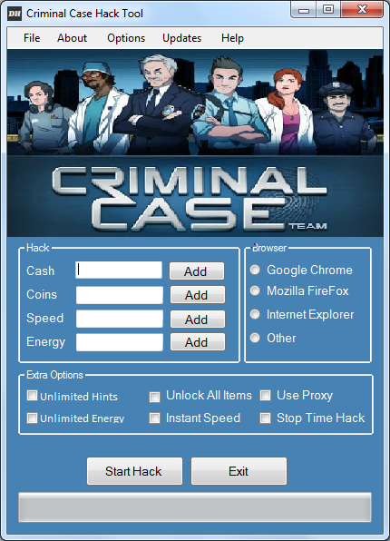 hello i m hackzors and i ve made the criminal case hack for