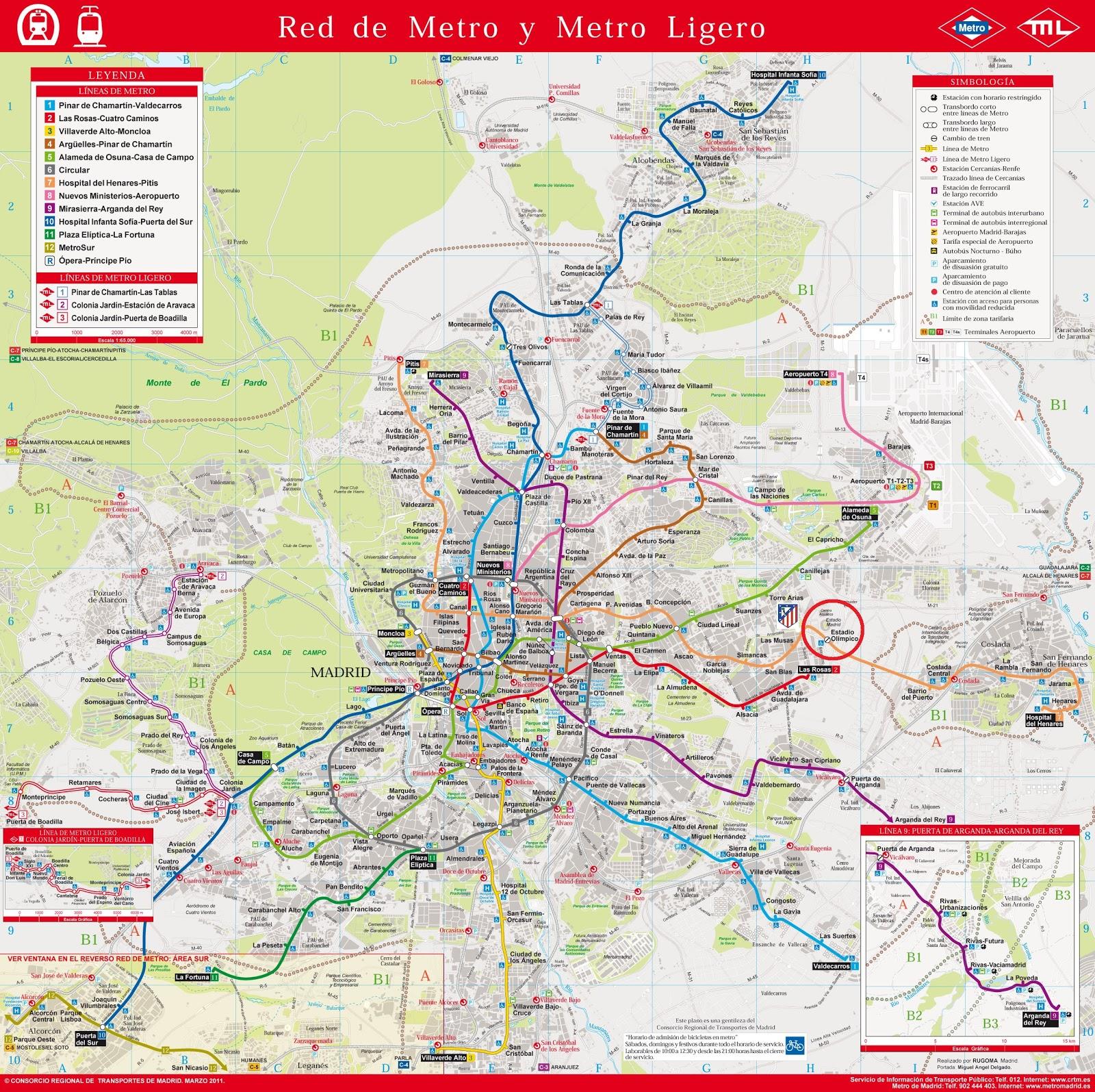 Mapa Metro Madrid Geografico