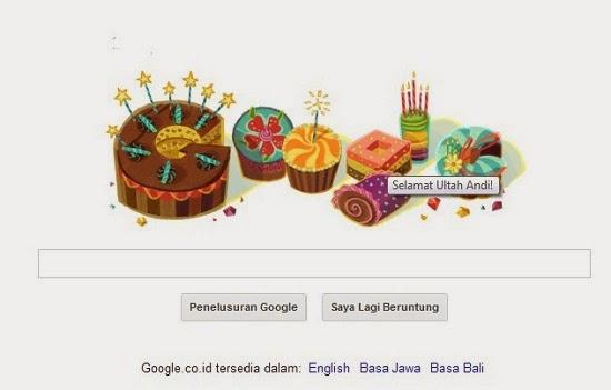 ucapan selamat ulang tahun dari google doodles andi