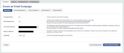 1. Schritt E-Mail-Kampagnen: Anlegen der Kampagne