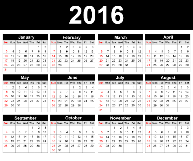 2016 Templates Images, Printable Cute Calendar 2016, Calendar 2016 ...