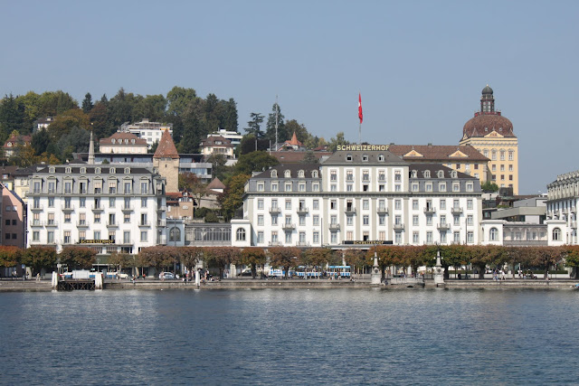 Schweizerhof Hotel is one of the high class hotels along Lake Lucerne in Lucerne, Switzerland