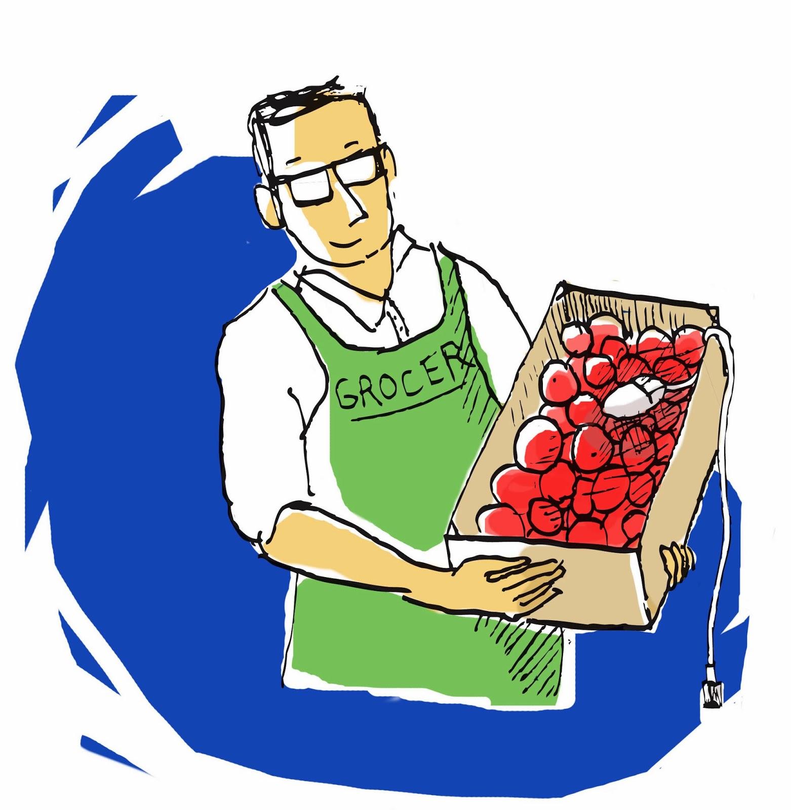 خضرى ، تاجر خضراوات ، بائع الخضراوات