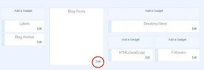 Blogger configure posts in LAYOUT