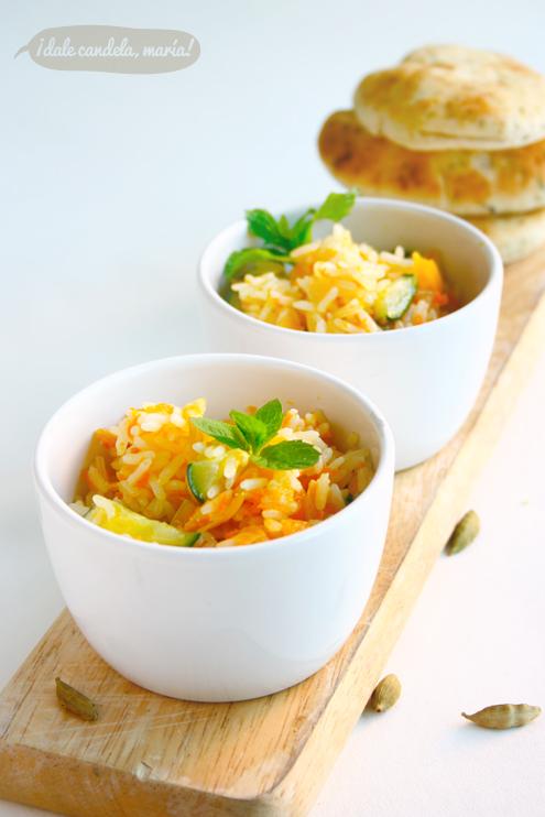 receta de arroz con verduras y cardamomo