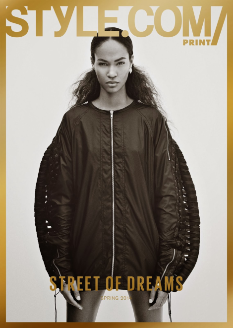 Joan Smalls by Jamie Morgan for Style.com Spring 2014 Cover