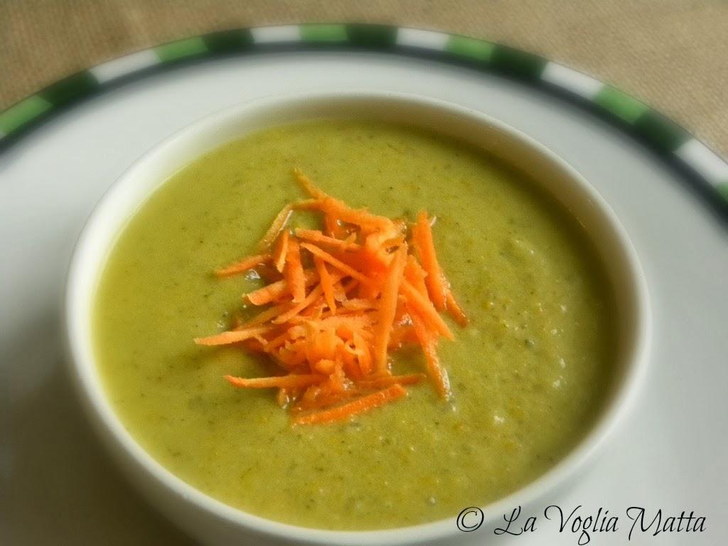 vellutata di broccoli,carote e.....senape