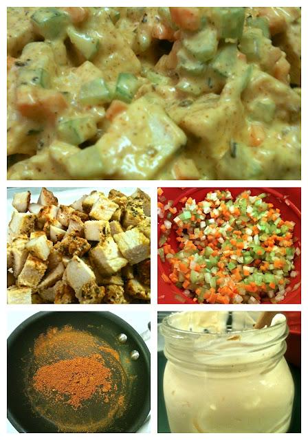 Cayenne Curry Chicken Salad Prep #KaceyCooks