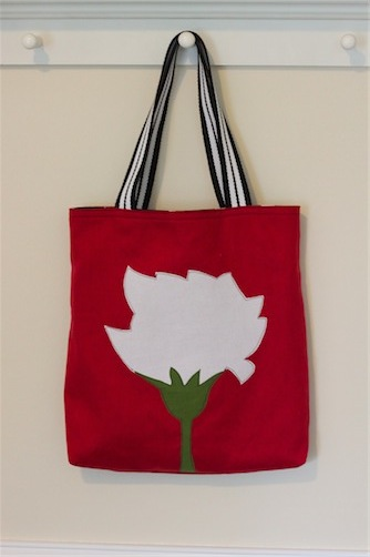 carnation tote bag: sewing tutorial